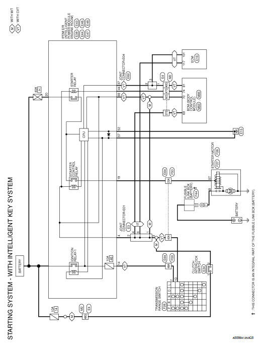 Nissan Sentra Service Manual Starting System With Intelligent Key Wiring Diagram Starting System Engine