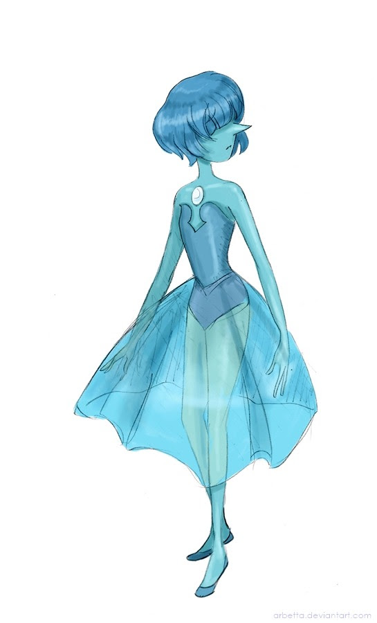 I wanted to draw Blue Pearl, she is so cute.