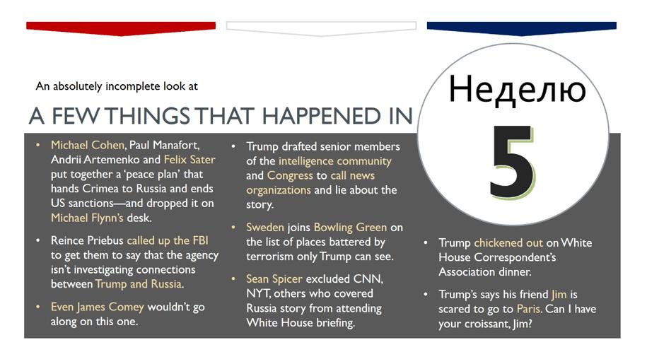 Trump events week 5