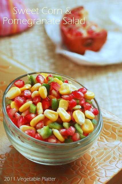 Sweet Corn & Pomegranate Salad