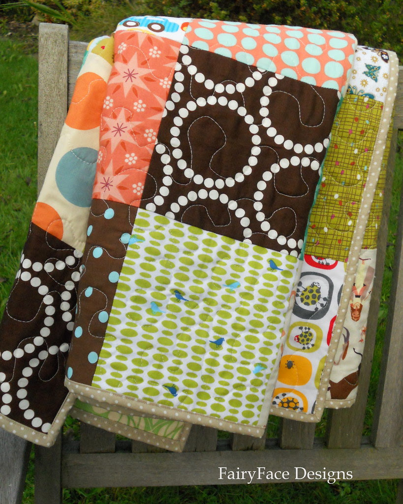 Autumn Baby quilt on chair