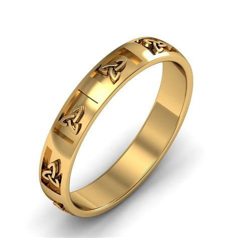 14k Gold Irish Handcrafted Celtic Trinity knot Design