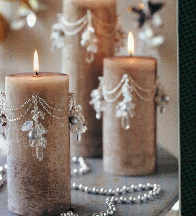 Beaded candles. Only for burning occasionally or decoration but still cool idea