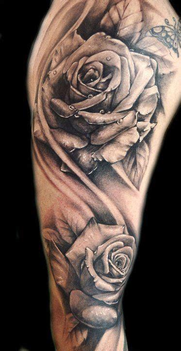dotwork rose tattoo arm katrina