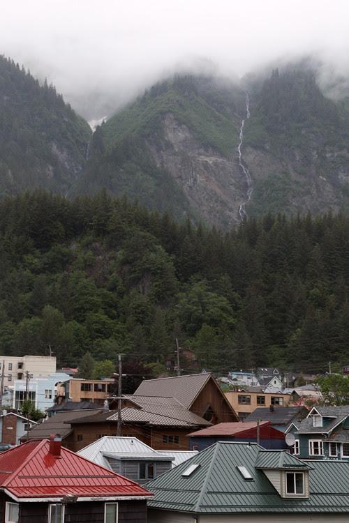 rooftops and Mount Juneau, Juneau, Alaska