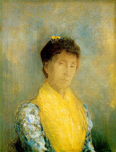 Woman with a Yellow Bodice, c. 1899, Odilon Redon, Pastel, 66 x 50 cm
