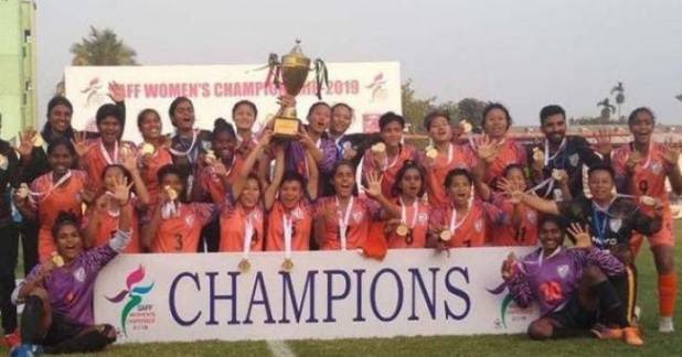 Indian Women team won the South Asian Football Championship fifth time in a row While We are busy in Watching IPL