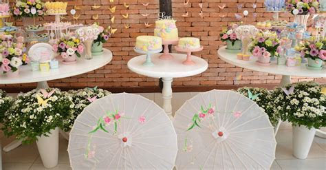 Kara's Party Ideas Pastel Japanese Garden Birthday Party