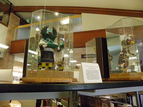 Kachina dolls at Prescott Public Library