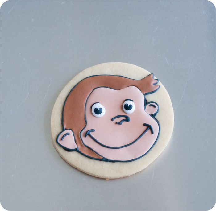 curious george decorated cookie tutorial