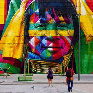 Brazilian Graffiti Artist Creates World's Largest Street Mural For The Rio Olympics