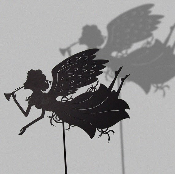 Good News Angel / Laser cut Shadow Puppet