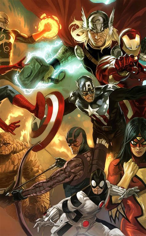 freeios al avengers liiust comics marvel art hero