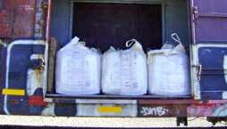 Some of the sacks containing nearly 11 tons of marijuana seized by ICE aboard a train from Mexico