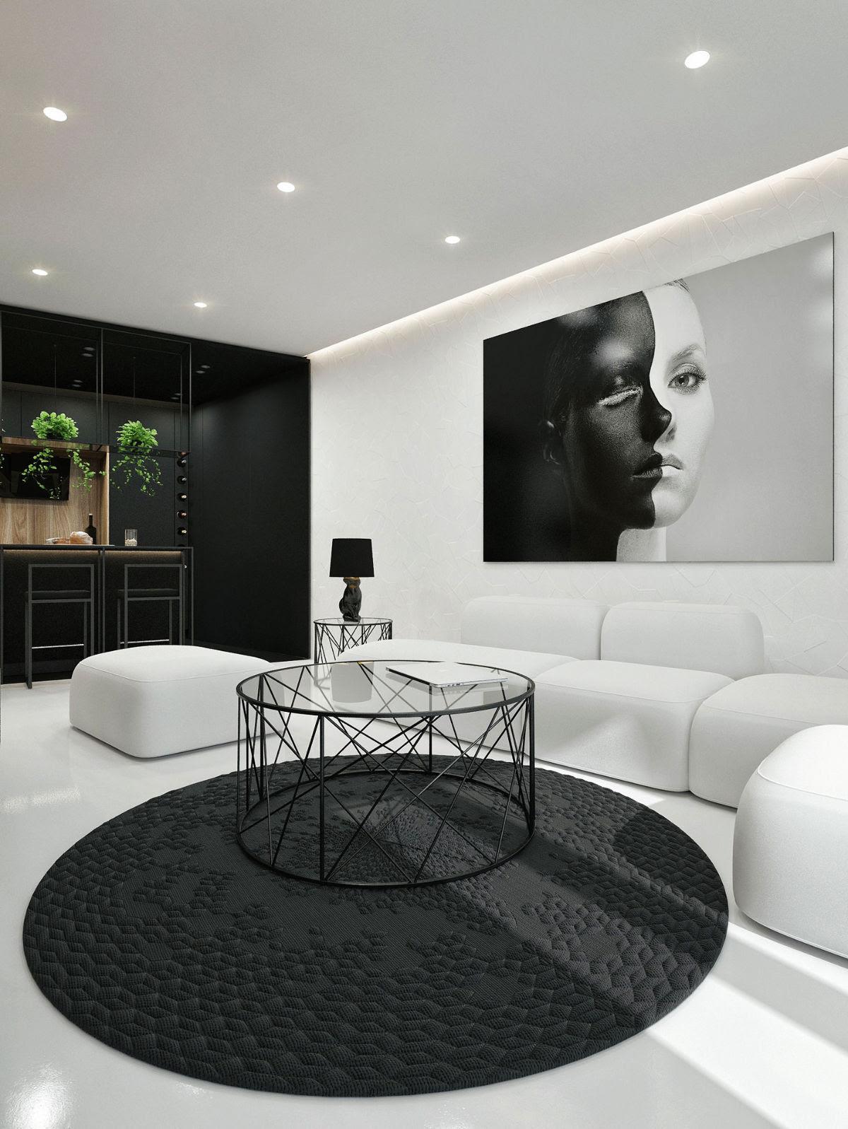 30 Black White Living Rooms That Work Their Monochrome Magic