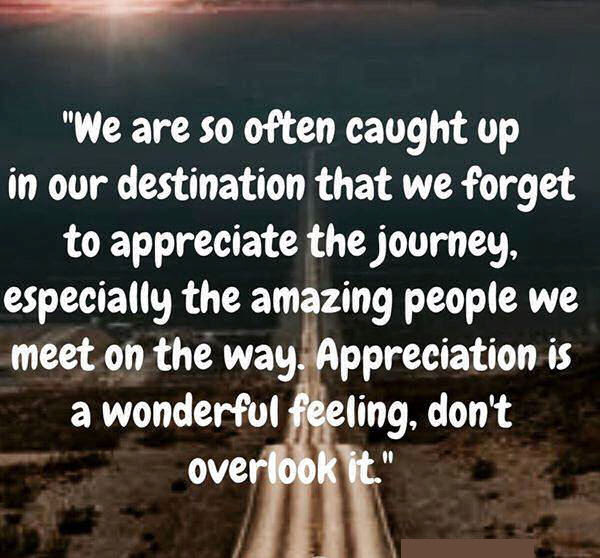 Remember To Appreciate Life And The Amazing People You Meet Along