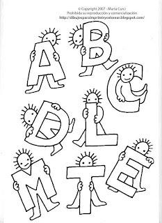 Dibujos Para Imprimir Y Colorear Gratis Para Ninos Dibujo De Letras