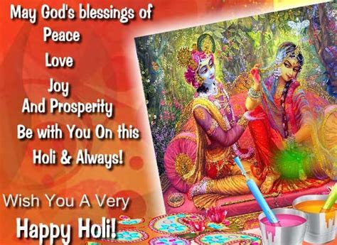 Joy And Blessings Of Holi! Free Happy Holi eCards