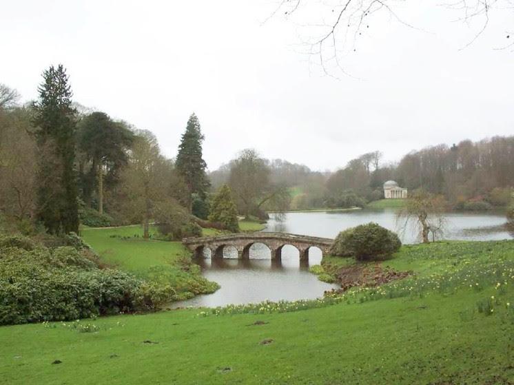 Stourhead Garden, entworfen von Lancelot Brown