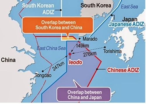 Vùng chồng lấn ADIZ japan-china-korea