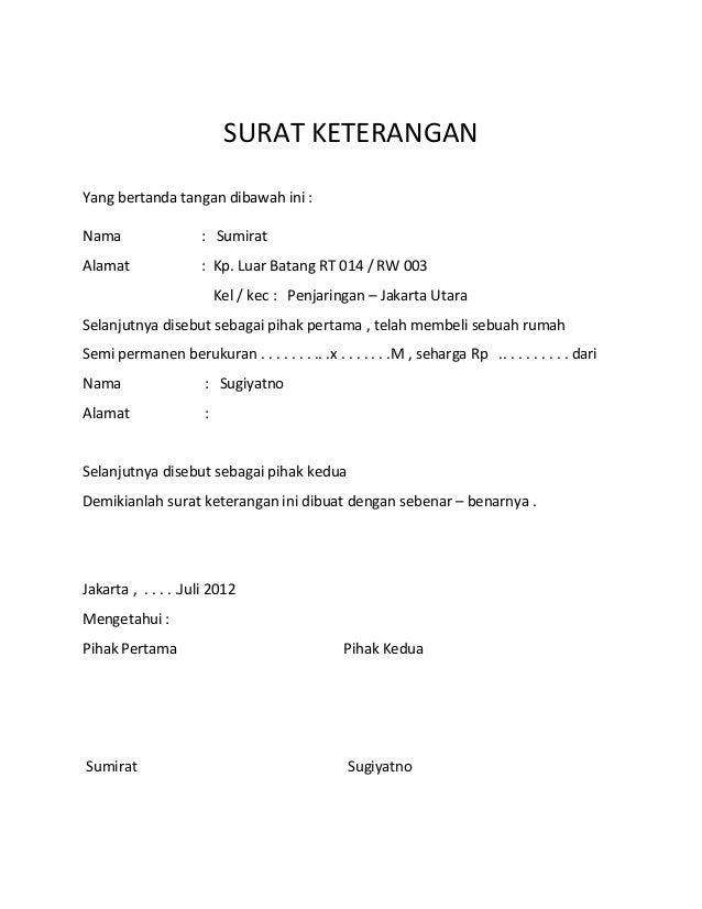 Contoh Surat Pernyataan Orang Tua Untuk Paspor - Surat P