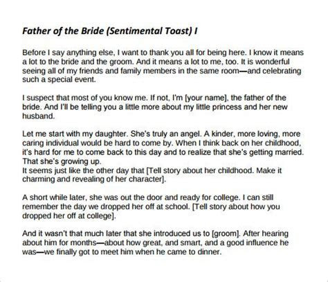 father of the bride wedding speeches samples   Yahoo Image