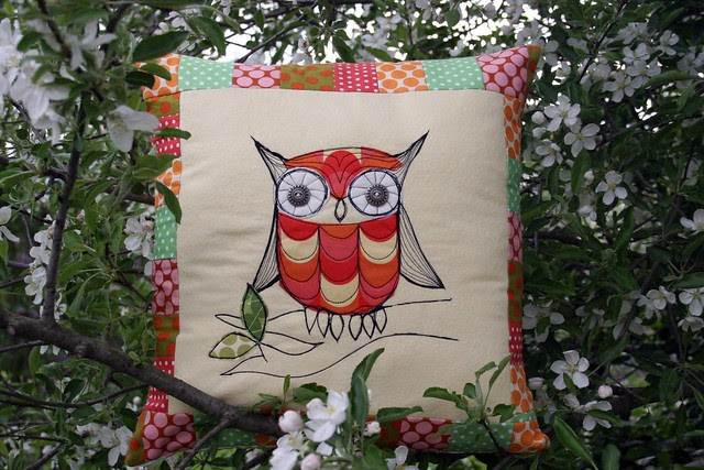 owl pillow.in a tree