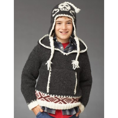 Craft Passions: Skull Hoodie with Hat..# free #knitting pattern link here