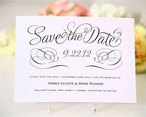 Save The Date Cards Templates For Weddings   Bridge