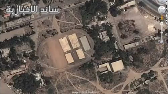 A screen-grab from a YouTube video shows supposed chemical weapons sites in Syria.