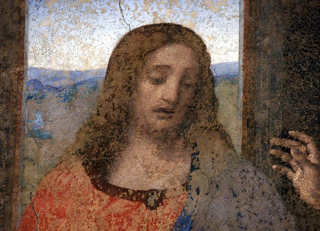 Masterpiece: Later versions of Christ, including Leonardo Da Vinci's interpretation in his fresco The Last Supper, give Jesus similar characteristics