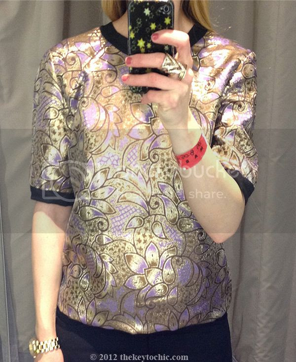 Marni at H&M gold brocade top