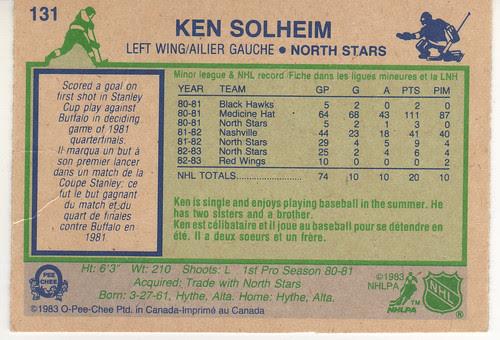 Ken Solheim - Back
