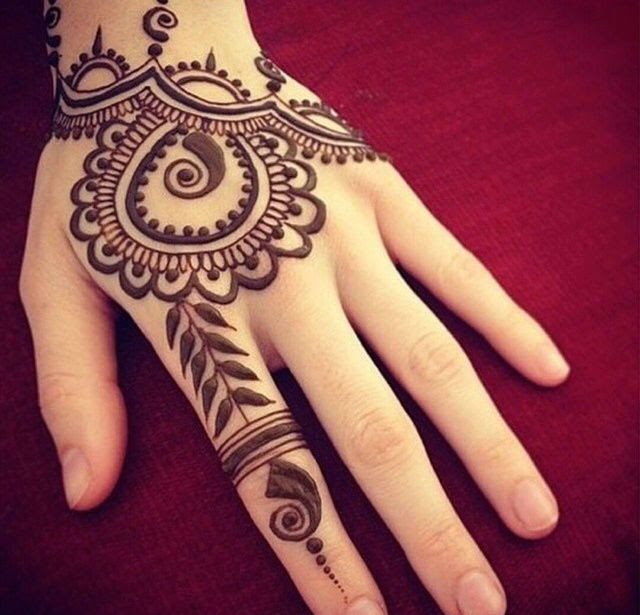 Henna Tattoo Design On Hand