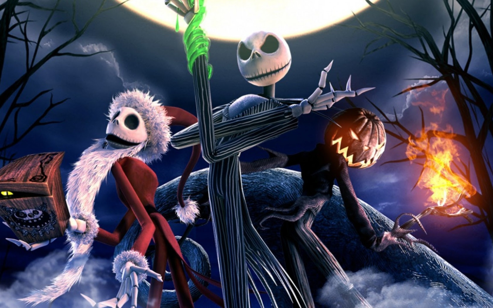 1680x1050 The Nightmare Before Christmas Skeletons Desktop Pc And