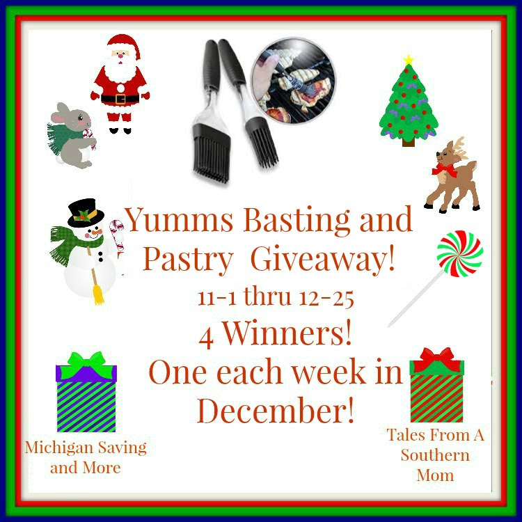 Enter the Yumms! Basting and Pastry Brush Giveaway. Ends 12/25