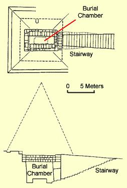 Plan and Sectional of Piye's Tomb at el Kurru