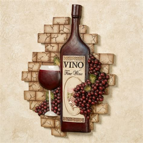 vino italiano wine  grapes wall plaque en  decor
