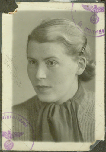 1943 German Passport Frau Fritz Basserman