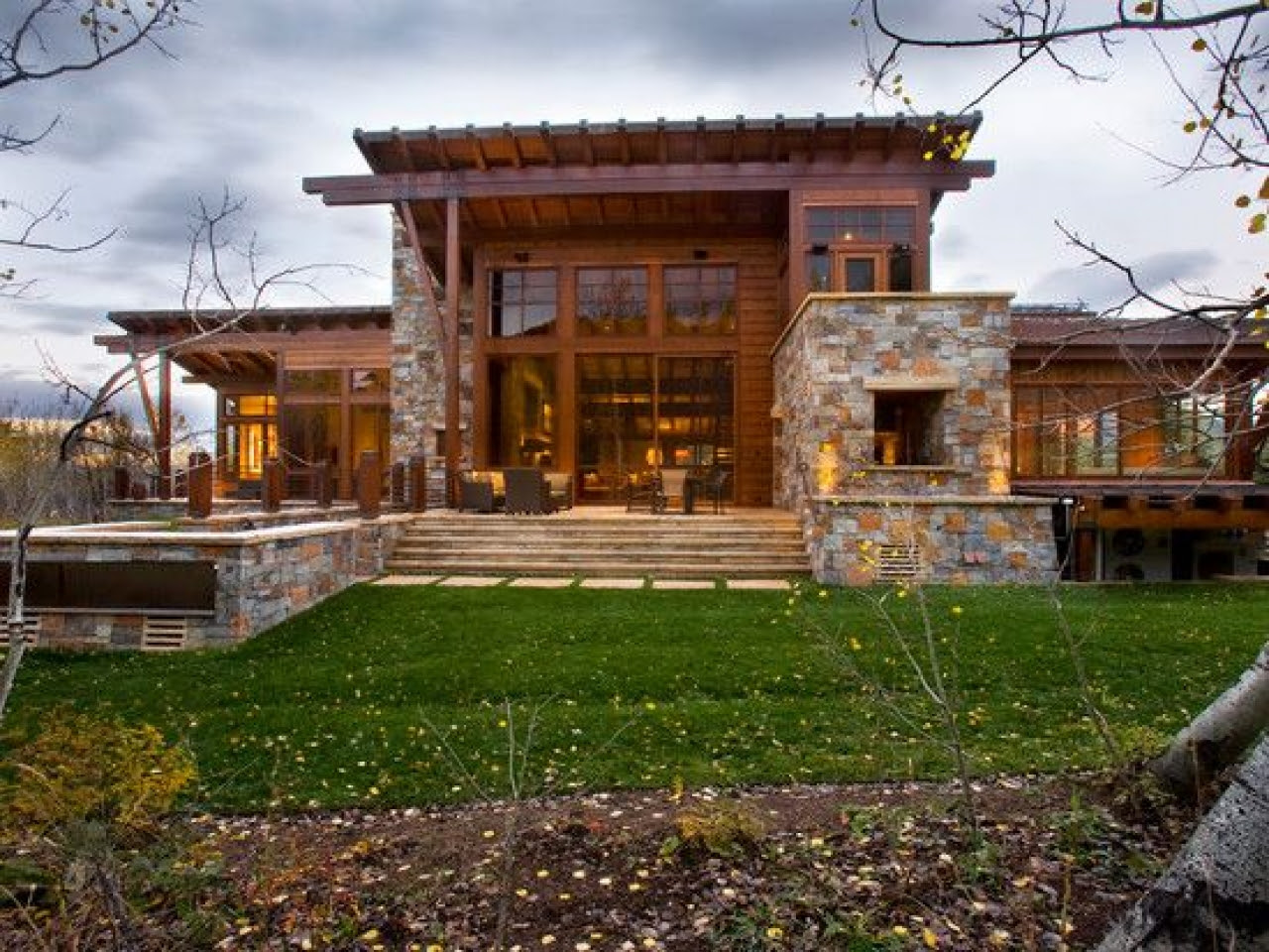 Home Exterior with Stone Designs Rustic Exterior Home Designs with Stone, modern rustic house