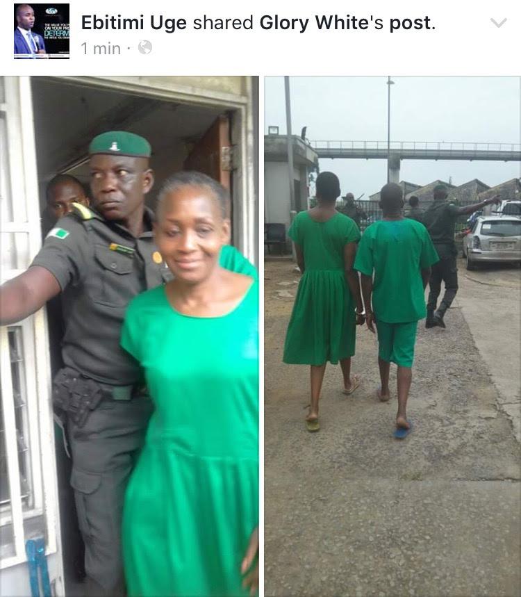 Kemi Olunloyo Wearing Prison Uniform (Photos)