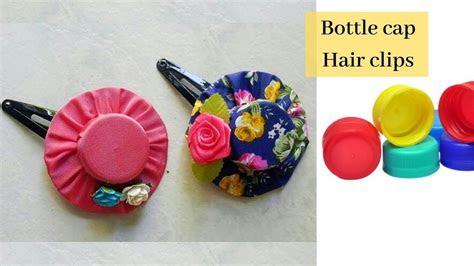 diy bottle cap crafts plastic bottle cap hair clips