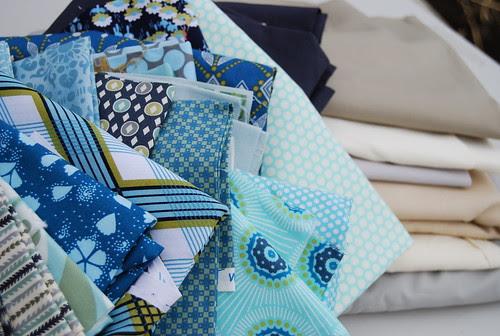 the prints for Urban Lattice Quilt along