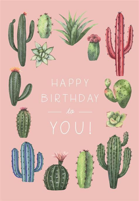 Cactus Birthday   Birthday Card (free)   Greetings Island