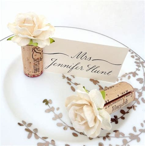 25  best ideas about Cork Place Cards on Pinterest   Wine