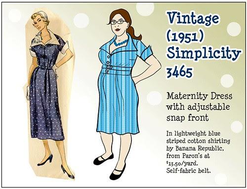 Vintage Simplicity 3465 Sketch