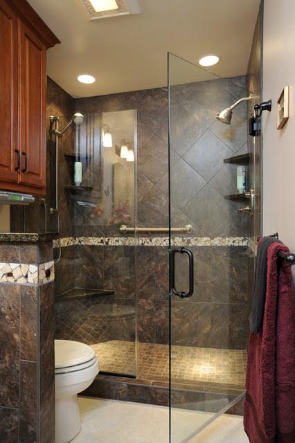 Beavercreek Small Bathroom - Contemporary - Bathroom ...