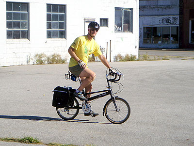 Paul on his Bike Friday