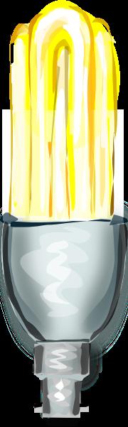 Energy Saving Compact Fluorescent Bulb Clip Art at Clker ...