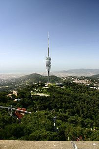 The Torre de Collserola in the Tibidabo Hill i...